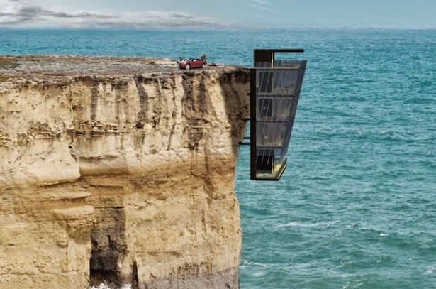 Rumah Tergantung Di Tebing Dan Di Dawahnya Laut Yang Luas Tak Pernah Terfikir Dek Akal