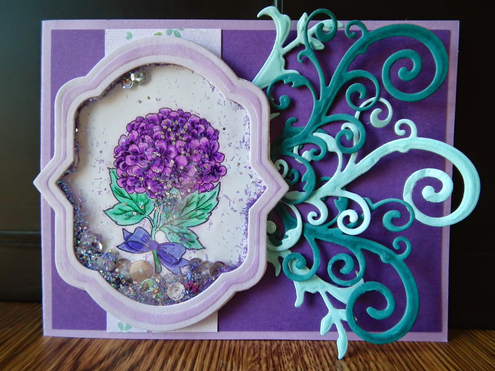Crafty Card Tricks: Flower Shaker Card
