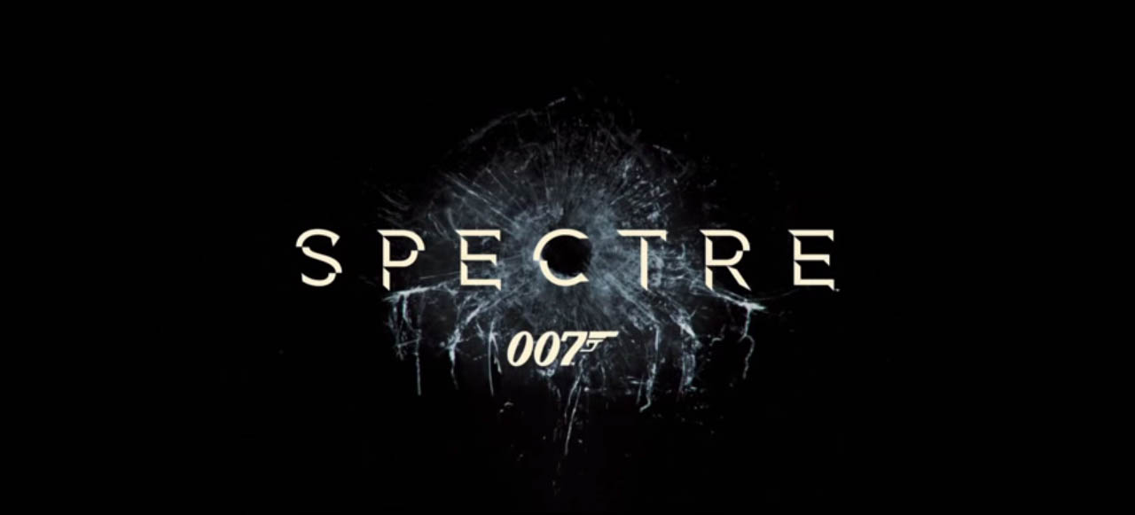 Spectre 2015 movie title card directed by Sam Mendeswhich starring Daniel Craig, Christoph Waltz, Lea Seydoux, Dave Bautista, Monica Bellucci