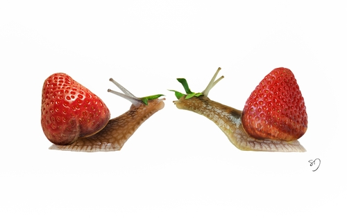 11-Snail-Strawberry-Sarah-DeRemer-You-Are-what-You-Eat-Photo-Manipulation-www-designstack-co