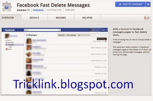 How to Delete All Facebook Massage By One Click