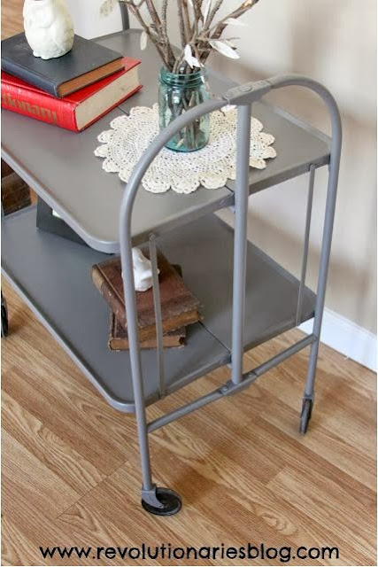 Mid-Century Metal Bar Cart Makeover