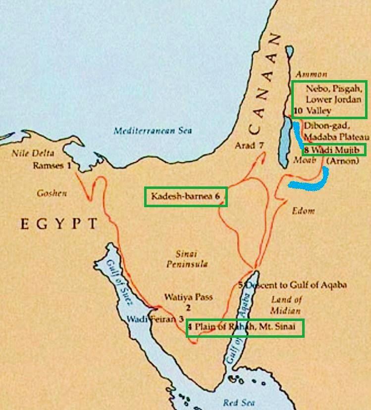Une histoire abrégée de l`Ancien Testament – (avec images et cartes géographiques) K+g+doc+map+Moses+Plains+of+Edom+Markings