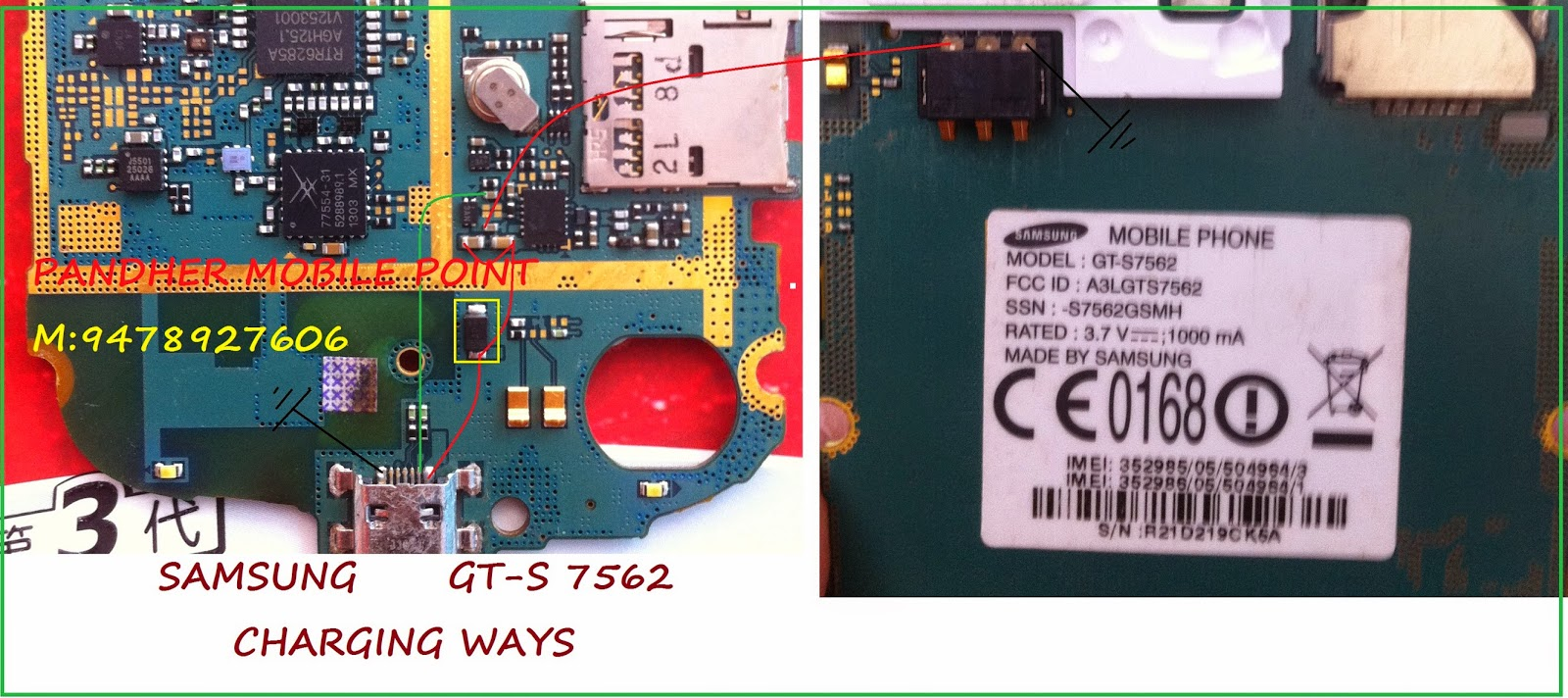 Samsung S7562 Charging Solution