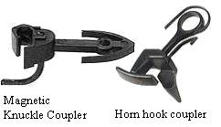 ho train horn hook couplers Although o-gauge equipment initially costs more than ho if you are happy with a toy train traditional o-gauge trains include a electro-mechanical horn and.