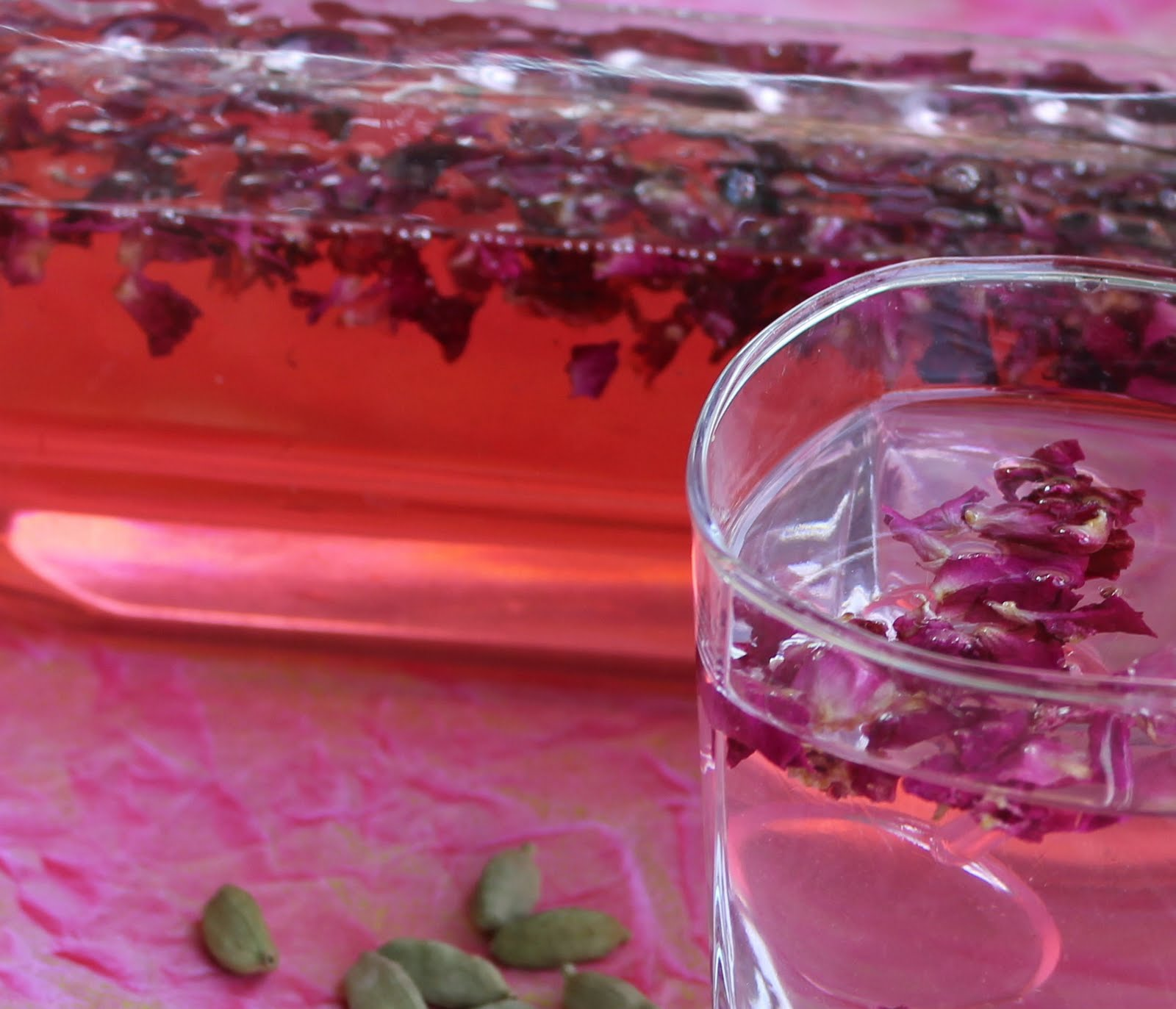 Rose petal drink