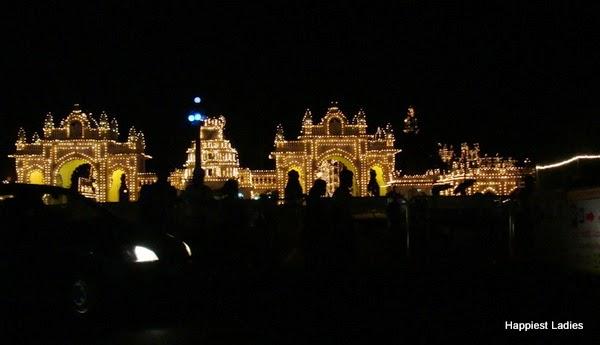 Mysore Palace Dasara Lighting 2014