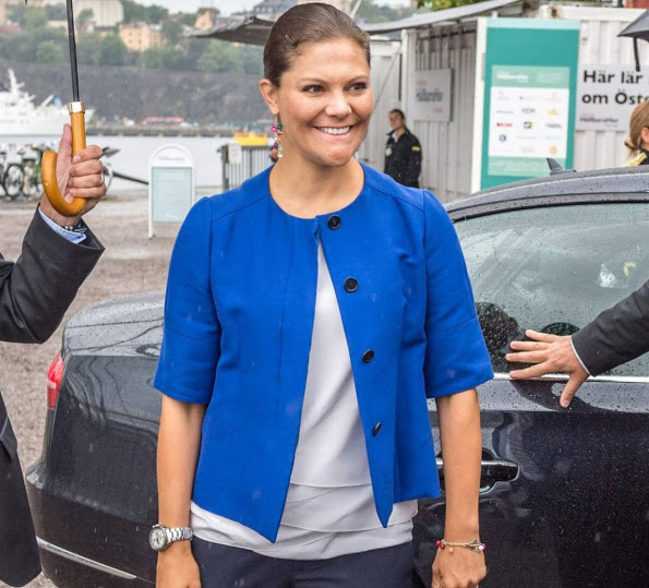 Princess Victoria Attended The Baltic Sea Seminar In Stockholm