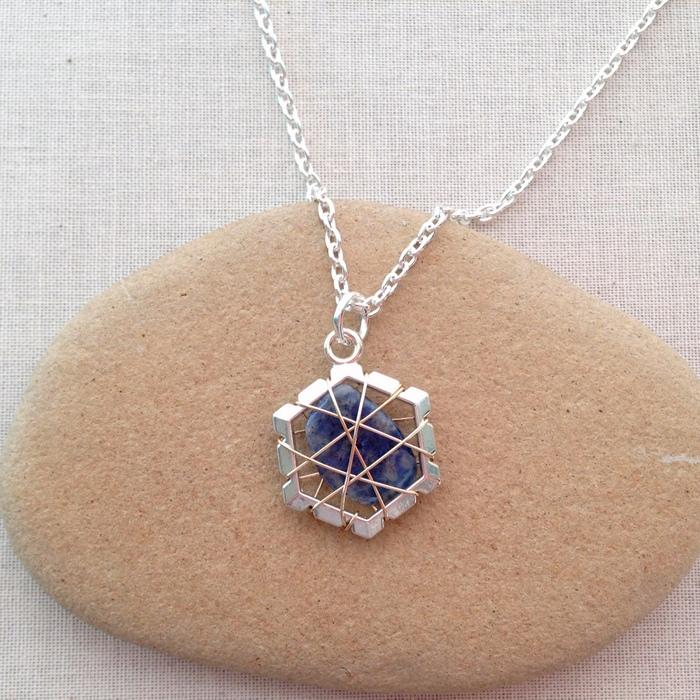 Lisa yangs jewelry blog two ways to wire wrap undrilled stone pendants aloadofball Gallery