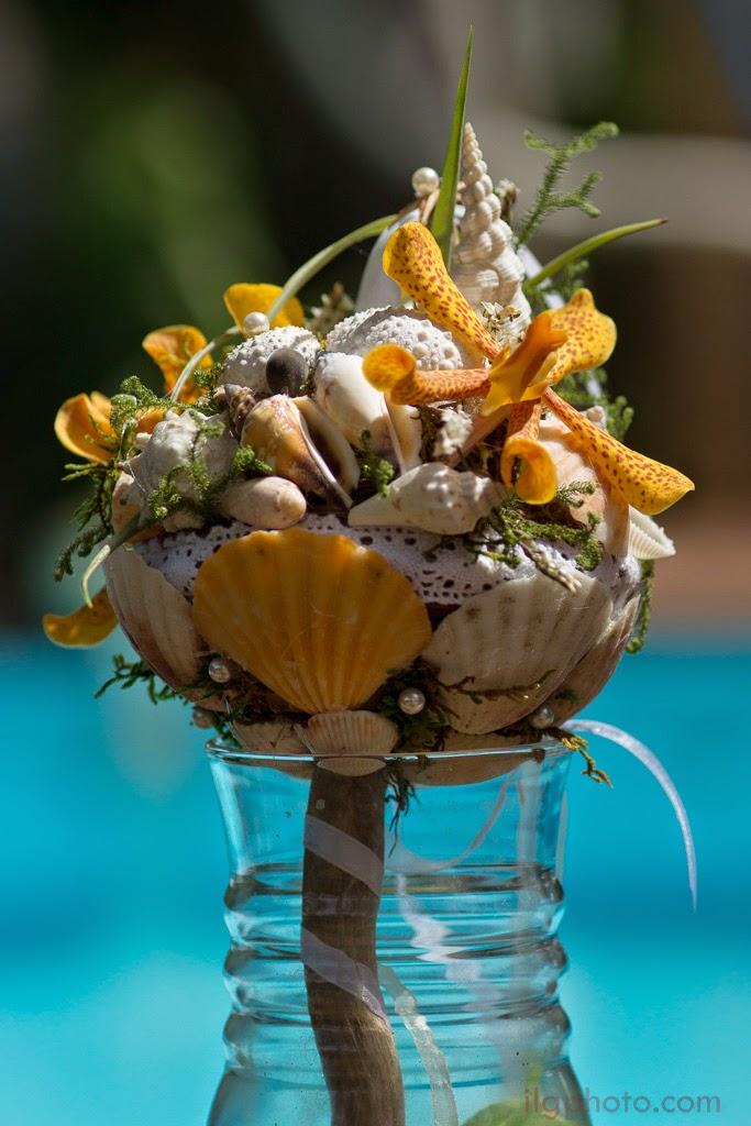 Le bouquet maritime de la mariée