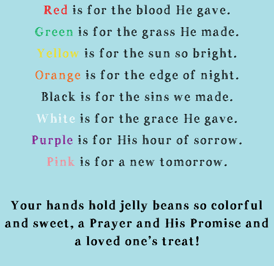 photo about Jelly Bean Prayer Printable known as 2 Mothers and a Site: Jelly Bean Prayer - cost-free printable
