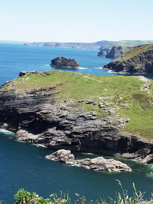 View of coast from Tintagel Castle Cornwall