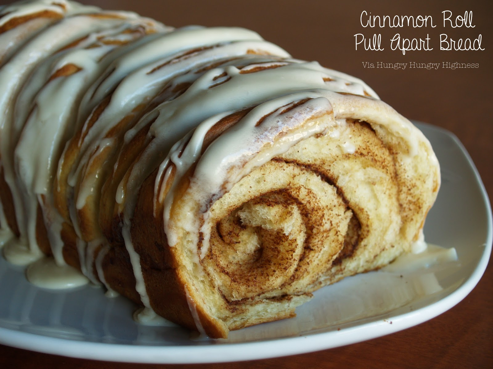 Hungry Hungry Highness: Cinnamon Roll Pull Apart Bread