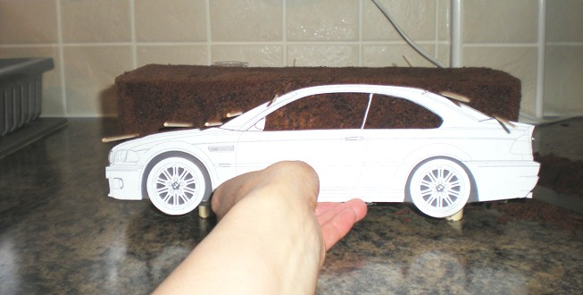 Tashas tasty treats blog making a bmw m3 car cake you can see under the cake was split once and then filled and crumb coated with buttercream i chill my cakes down before putting on the sugarpaste pronofoot35fo Choice Image