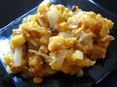 Hash-Browned Golden Beets and Yams