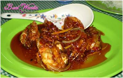 Udang seafood segar sarawak, sedap best murah