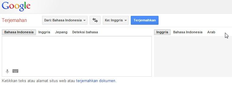 google translate indonesia inggris