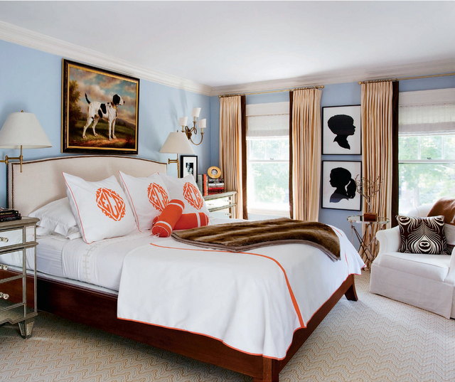 Decor Inspiration Monogrammed Bedding