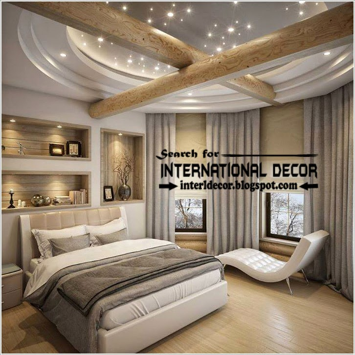Contemporary pop false ceiling designs for bedroom 2017 Designer bedrooms