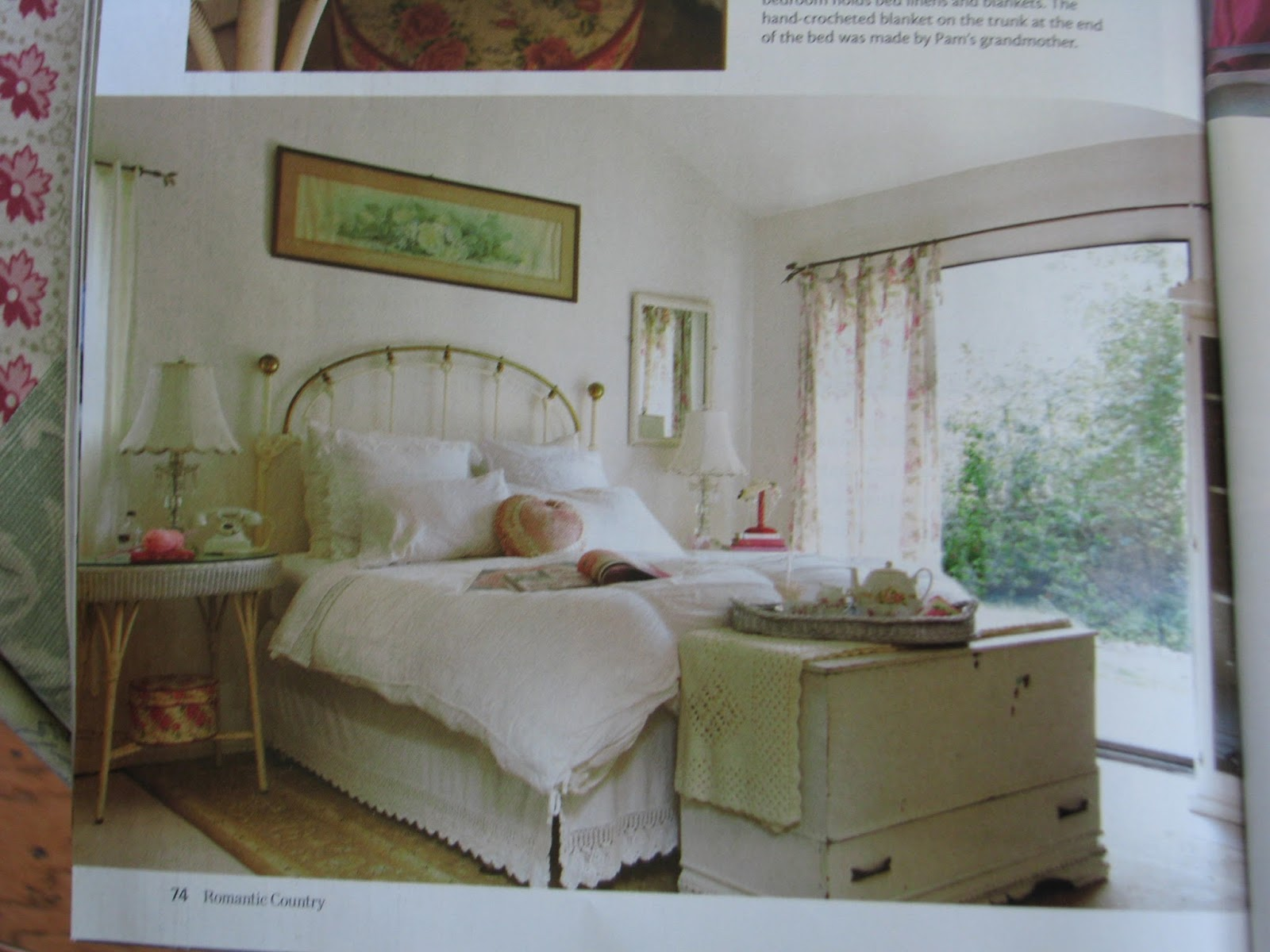 Thank you romantic country magazine white ironstone cottage for Country cottage magazine