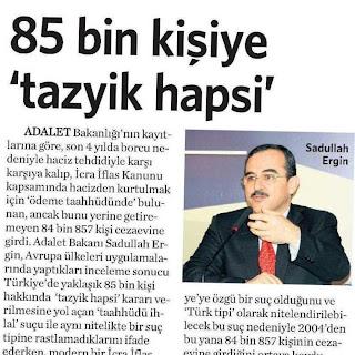 Kahramanmaraş infaz hakimi vicdani bir karar verdi ve HSYK, Maraş barosunun şikayeti üzerine Hakimimiz hakkında soruşturma başlattı