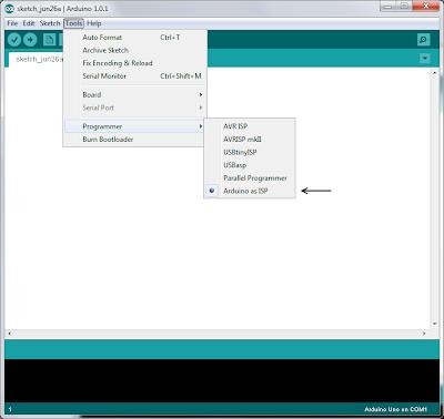 Arduino isp sketch download