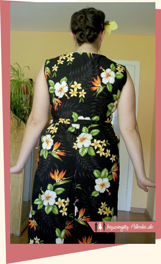 Kleid, Tropenstoff, Tropenkleid, 1957, 50er Jahre, Schwabe, Der neue Schnitt, Herzausschnitt, Nähen,