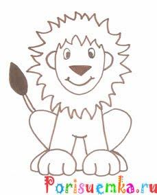 рисунок льва