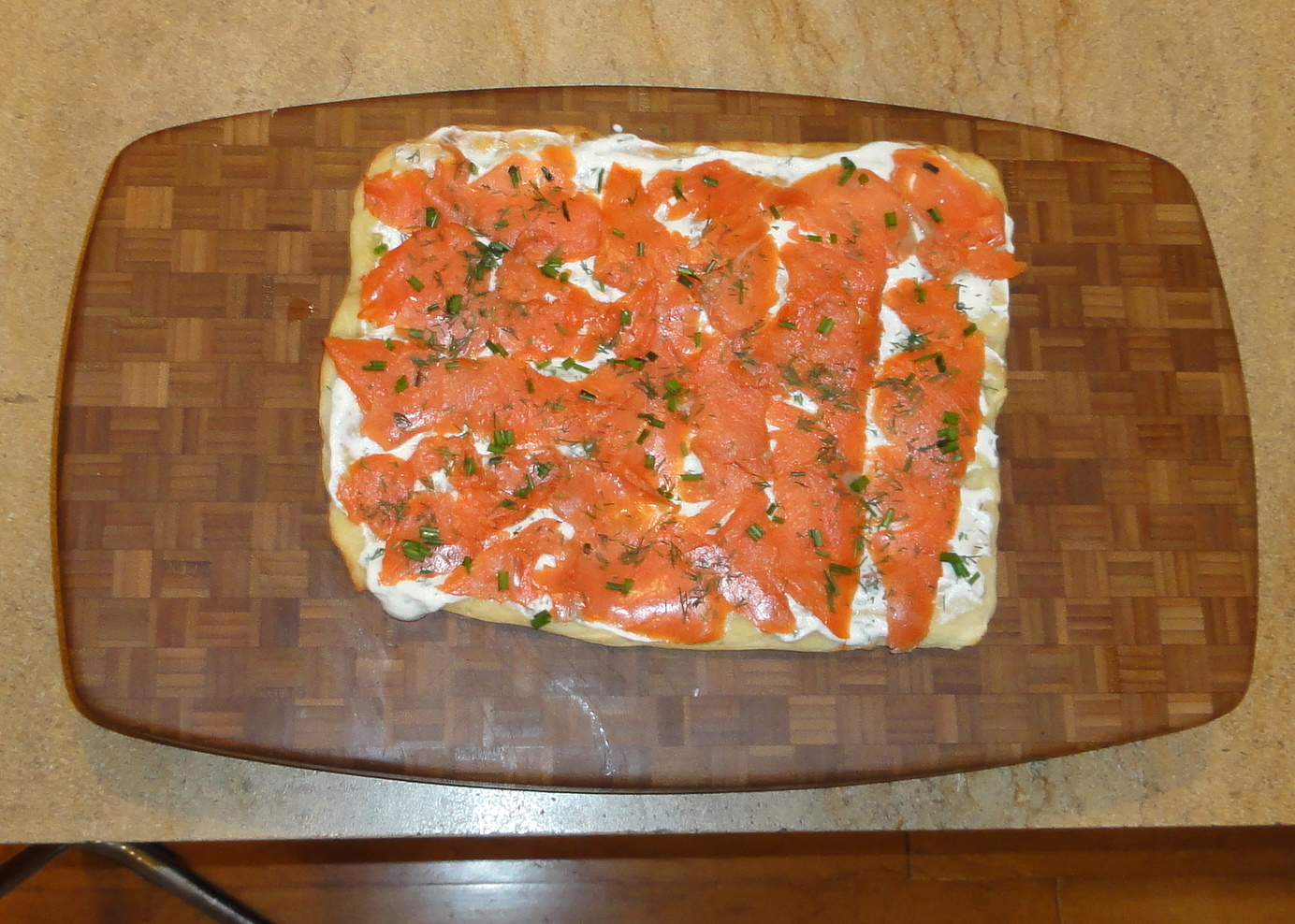 Cooking with Larue: Lavash Pizza with Smoked Salmon