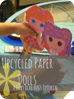 upcycled paper dolls tutorial stamp