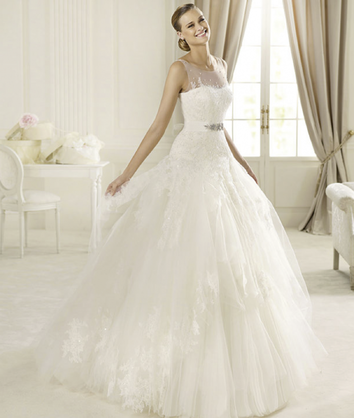 Romantic Bridal Gowns : Honey buy pronovias romantic wedding dresses