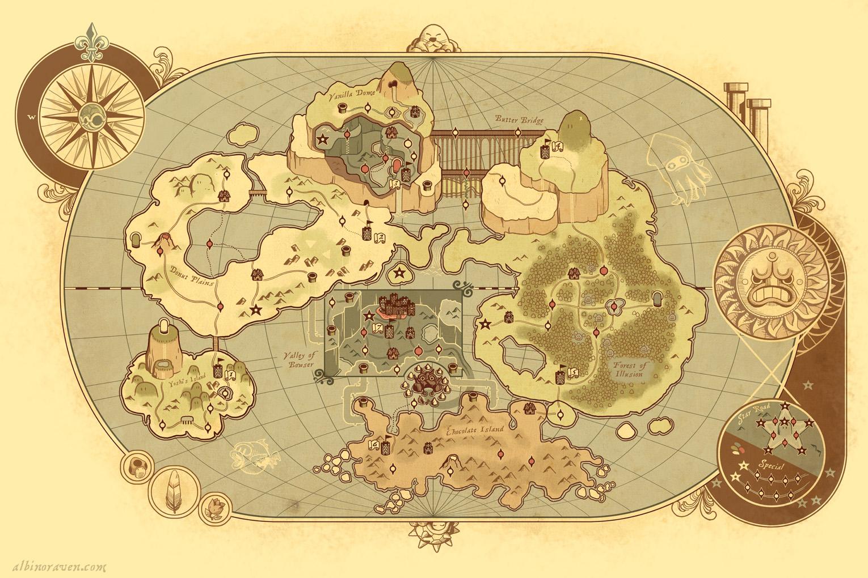 Super Mario 3d World Mapa World Map From Super Mario