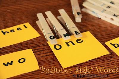http://www.sugaraunts.com/2013/09/beginner-sight-words-letter-match.html
