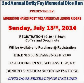 7-13 Betty Fay Memorial Dice Run