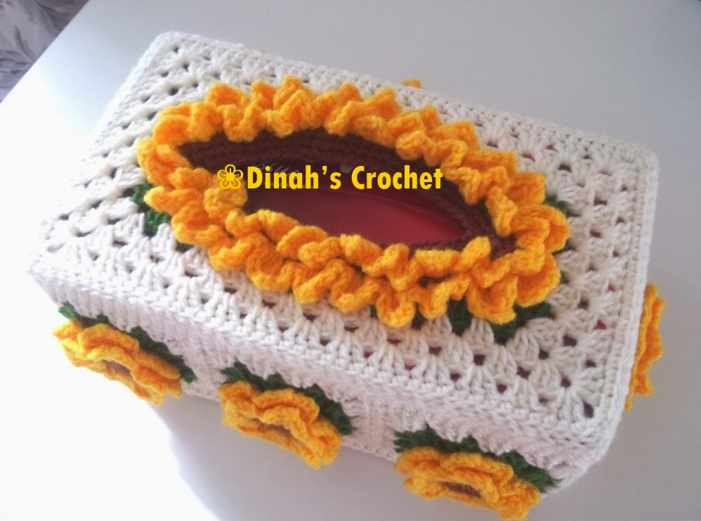 Outstanding Tissue Box Crochet Cover Pattern Motif Easy Scarf