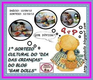 Sorteio Cultural Gam Dolls