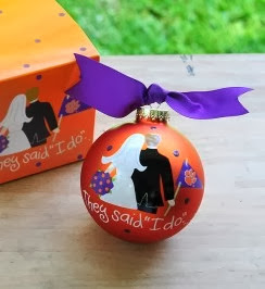 Clemson Tigers NCAA Bride & Groom Ornament
