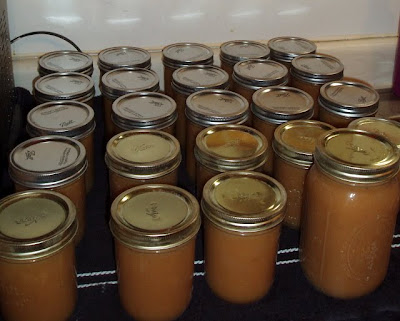 Home-canned applesauce