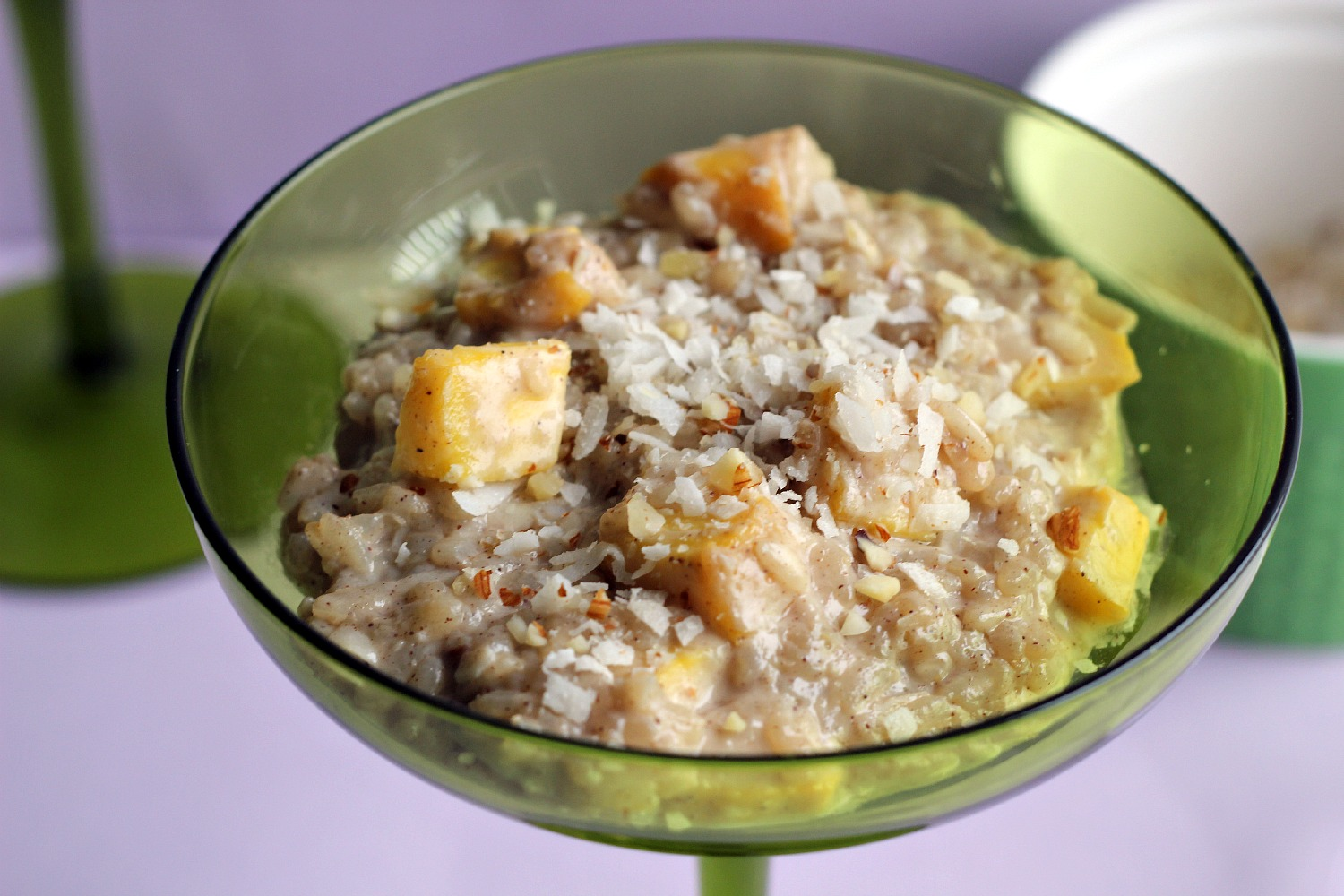 chunks of mango combined with creamy arborio rice and light coconut ...