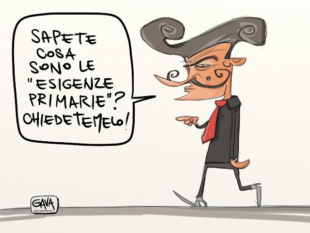 Gava Satira Vignette Pd D'Alema