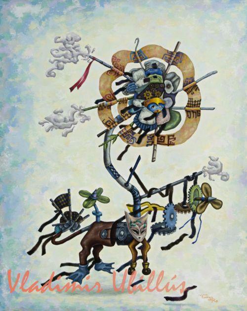 Mascota Reciclada, (Óleo sobre lienzo). / Das rezyklierte Haustier, (Öl auf Leinwand).