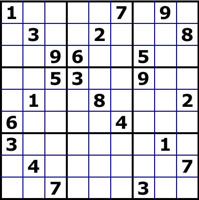 sudoku le plus difficile du monde