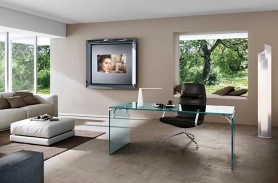 Arredo in specchio da parete con tv incorporato - Specchio design da parete ...