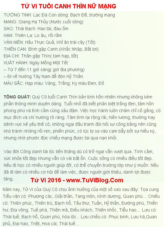 Tu Vi Tuoi Canh Thin Nu Mang 2000