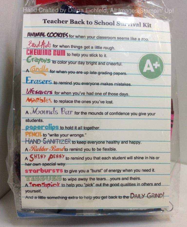 Diana: Stylin' Stampin' INKspiration: Back to School Survival Kits