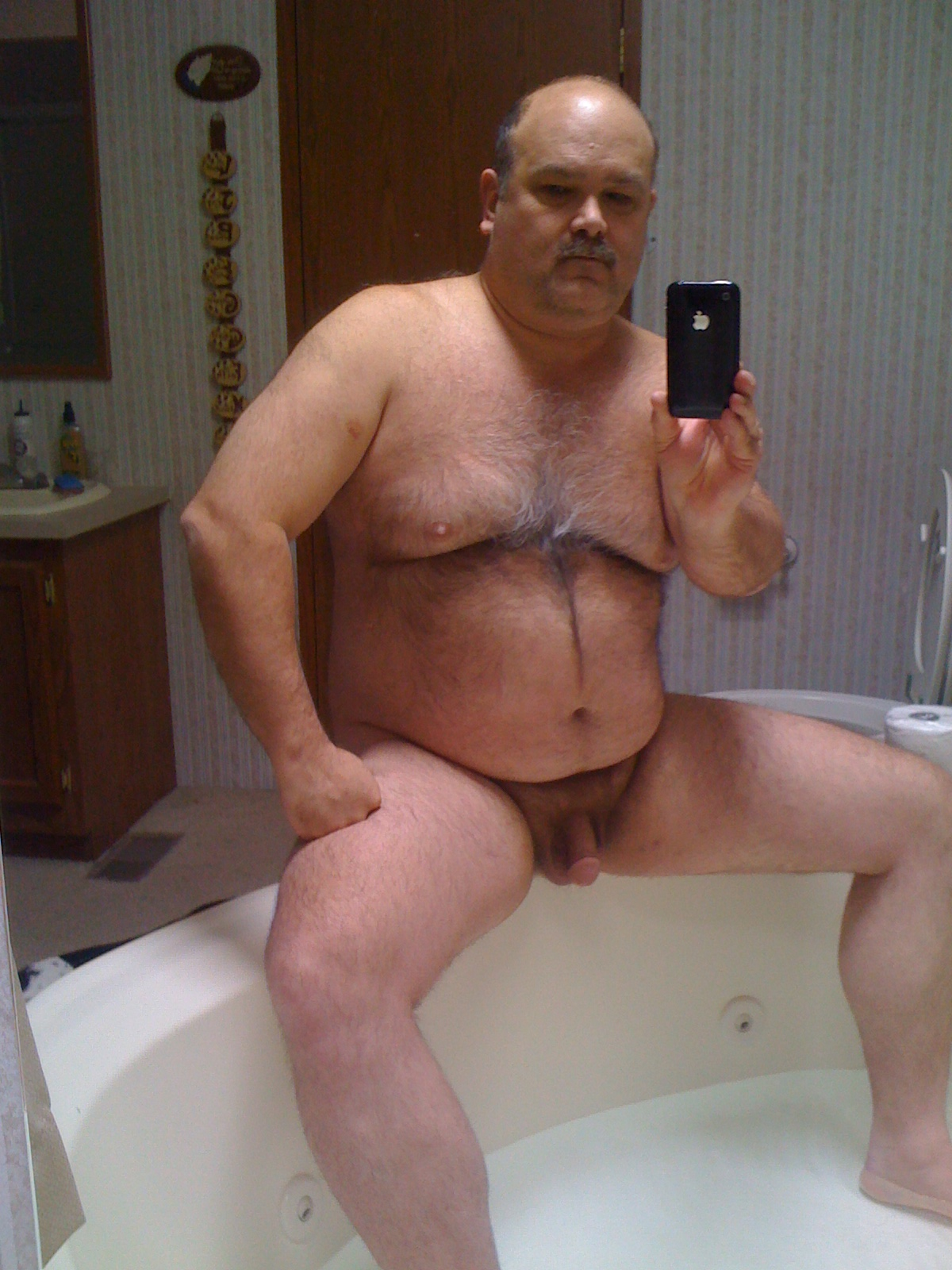 Fat gay man mature