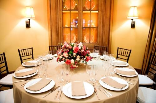 Pink Gold Elegant Dining