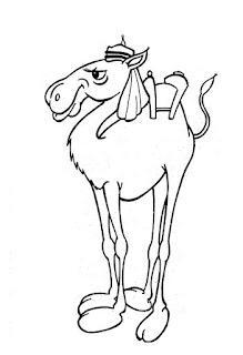 Desenho do camelo para colorir