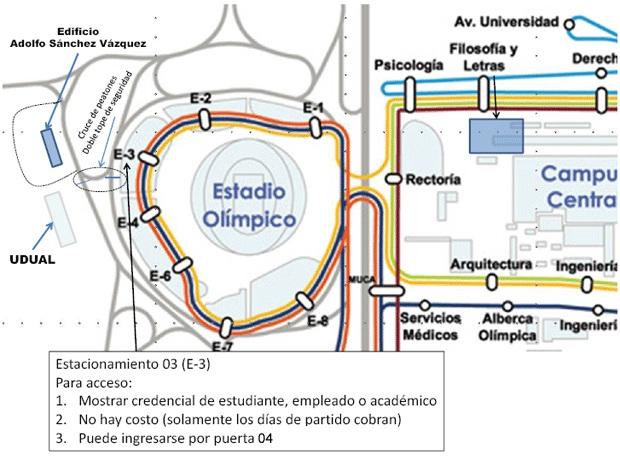 Asia pac fico semestre 2012 2 indicaciones para este for Puerta 5b estadio universitario