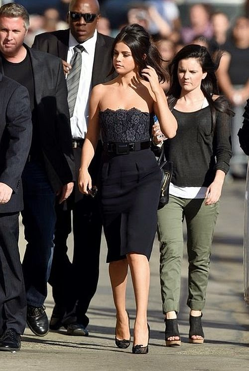 Selena Gomez was snapped to promoted her new film, Rudderless on the Jimmy Fallon studio at Los Angeles on Wednesday, October 15, 2014.